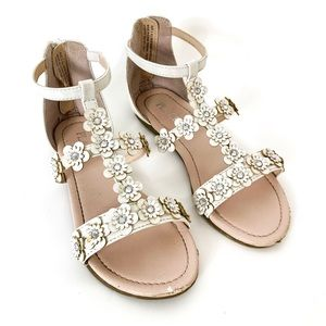 Children's place | Girls white gladiator sandals